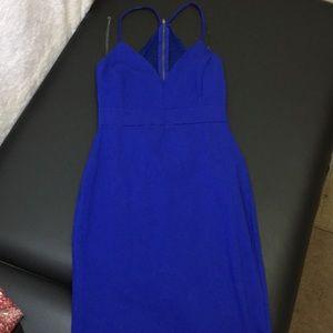 CHARLOTTE RUSSE blue midi dress